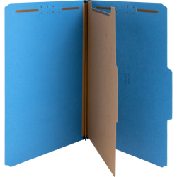 "Nature Saver Color Classification Folders, 2/5"" Tab Cut, Right Tab Position, Legal Size , Dark Blue, Box Of 10"