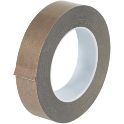 """Office Depot® Brand PTFE Glass Cloth Tape, 10 Mils, 3"""" Core, 1"""" x 54', Brown"""
