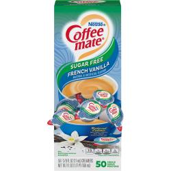 Nestlé® Coffee-mate® Liquid Creamer, Sugar-Free French Vanilla Flavor, 0.38 Oz Single Serve x 50