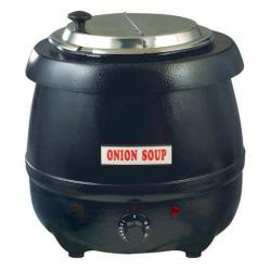 Winco Electric Soup Warmer, 10.5 Qt, Black