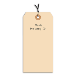 """Office Depot® Brand Prestrung Manila Shipping Tags, 13 Point, #8, 6 1/4"""" x 3 1/8"""", Box Of 1,000"""
