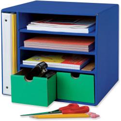 "Pacon Classroom Keepers Management Center, 12 7/16""H x 13 1/2""W x 12 7/16""D, Blue"