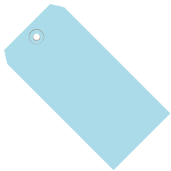 "Office Depot® Brand Color Shipping Tags, #1, 2 3/4"" x 1 3/8"", Light Blue, Box Of 1,000"