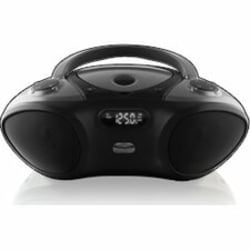 iLive Bluetooth CD Radio Portable Boombox - 1 x Disc Integrated Stereo Speaker - Black LCD - CD-DA - 6 Hour Run Time - Auxiliary Input