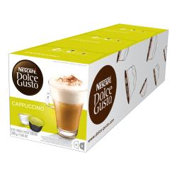 Nescafe® Dolce Gusto® Single-Serve Coffee Pods, Cappuccino, Carton Of 48, 3 x 16 Per Box