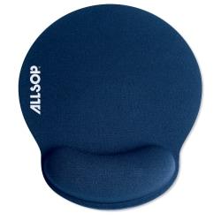 "Allsop® Memory Foam Mouse Pad, 0.25""H x 9.75""W x 11.5""D, Blue"