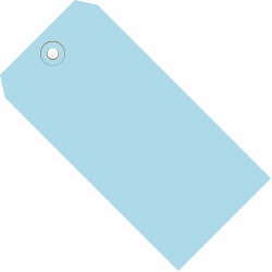 """Office Depot® Brand Color Shipping Tags, #4, 4 1/4"""" x 2 1/8"""", Light Blue, Box Of 1,000"""