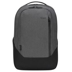 "Targus® Cypress Hero EcoSmart® Backpack With 15.6"" Laptop Pocket, Light Gray"