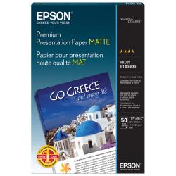 "Epson® Premium Presentation Paper, A3 (11.69"" x 16.54""), 44 Lb, Pack Of 50 Sheets"
