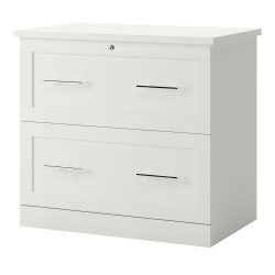 "Realspace® 2-Drawer 30""W Lateral File Cabinet, White"
