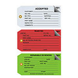"""Office Depot® Brand Inspection Tags, 2-Part Numbered, """"Rejected,"""" 4 3/4"""" x 2 3/8"""", Red, Box Of 500"""