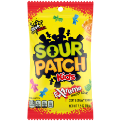 Sour Patch Kids Extreme, 7.2 Oz, Pack Of 12 Bags
