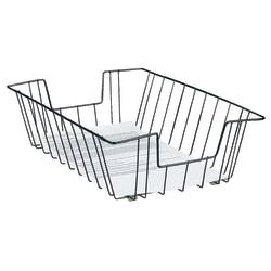 Brenton Studio® Deep Legal-Size Wire Desk Tray, Black