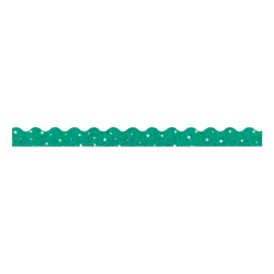 "TREND Sparkle Terrific Trimmers, 2 1/4"" x 39"", Teal, Pack Of 10"