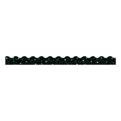 "TREND Sparkle Terrific Trimmers, 2 1/4"" x 39"", Black, Pack Of 10"