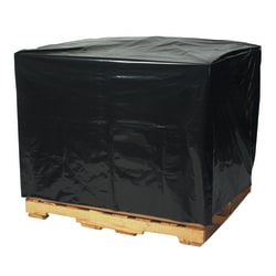 """Office Depot Brand 2 Mil Black Pallet Covers 51"""" x 49"""" x 73"""", Box of 50"""