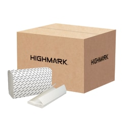 Highmark® 100% Recycled C-Fold Paper Towels, White, 150 Towels Per Pack, Case Of 16 Packs