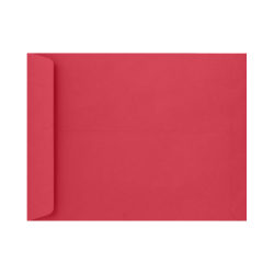 """LUX Open-End Envelopes With Peel & Press Closure, #9 1/2, 9"""" x 12"""", Holiday Red, Pack Of 1,000"""