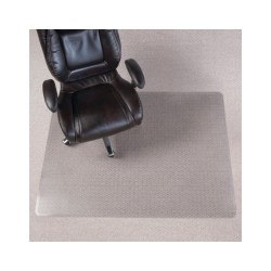 "Realspace™ Chair Mat For Thin Commercial-Grade Carpets, Berber, Rectangular, 46"" x 60"", Clear"