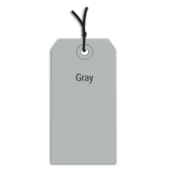 """Office Depot® Brand Prestrung Color Shipping Tags, #8, 6 1/4"""" x 3 1/8"""", Gray, Box Of 1,000"""