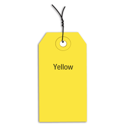 """Office Depot® Brand Prewired Color Shipping Tags, #1, 2 3/4"""" x 1 3/8"""", Yellow, Box Of 1,000"""