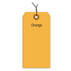 "Office Depot® Brand Fluorescent Prewired Shipping Tags, #1, 2 3/4"" x 1 3/8"", Orange, Box Of 1,000"