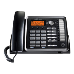 RCA 2-Line Corded DECT 6.0 Expandable Business Telephone With ITAD, RCA-25254