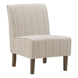Linon Roxy Script Accent Chair, Rustic Gray/Natural/Gold