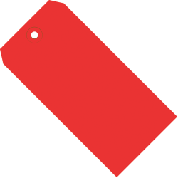 """Office Depot® Brand Color Shipping Tags, #5, 4 3/4"""" x 2 3/8"""", Red, Box Of 1,000"""