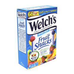 Welch's® Mixed Fruit Snacks, 0.9 oz., Box Of 66 Pouches