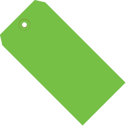 """Office Depot® Brand Color Shipping Tags, #6, 5 1/4"""" x 2 5/8"""", Green, Box Of 1,000"""