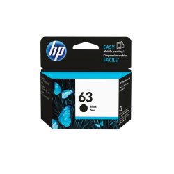 HP 63 Original Ink Cartridge, Black (F6U62AN)