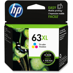 HP 63XL High Yield Original Ink Cartridge, Tricolor (F6U63AN)