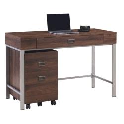 Realspace 47-in W Brezio Computer Desk w/Mobile File Cabinet Deals