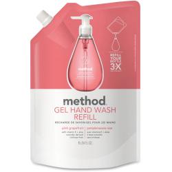 Method® Antibacterial Gel Hand Wash Soap, Pink Grapefruit Scent, 34 Oz Bottle