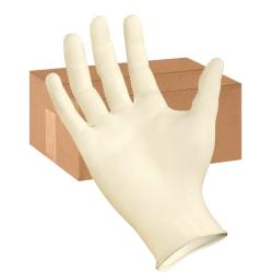 Boardwalk Disposable Powder-Free Synthetic Vinyl Exam Gloves, Large, Cream, Box Of 100 Gloves