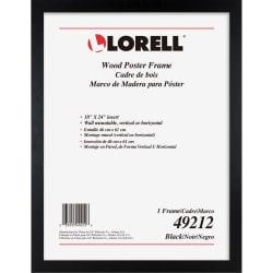 "Lorell Wide Frame - 24"" x 36"" Frame Size - Rectangle - Horizontal, Vertical - 1 Each - Wood - Black"