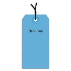 """Office Depot® Brand Prestrung Color Shipping Tags, #5, 4 3/4"""" x 2 3/8"""", Dark Blue, Box Of 1,000"""