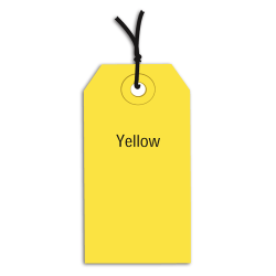 "Office Depot® Brand Prestrung Color Shipping Tags, #5, 4 3/4"" x 2 3/8"", Yellow, Box Of 1,000"