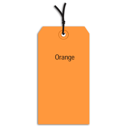 "Office Depot® Brand Prestrung Color Shipping Tags, #5, 4 3/4"" x 2 3/8"", Orange, Box Of 1,000"