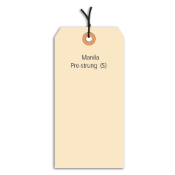 "Office Depot® Brand Prestrung Manila Shipping Tags, 10 Point, #6, 5 1/4"" x 2 5/8"", Box Of 1,000"