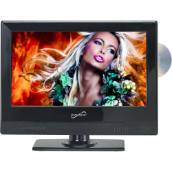 "Supersonic SC-1312 13.3"" TV/DVD Combo - HDTV - 16:9 - 1366 x 768 - 720p - LED - ATSC - NTSC - 90° / 45° - HDMI - USB"