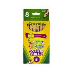 Crayola® Write Start® Color Pencils, Set Of 8 Colors