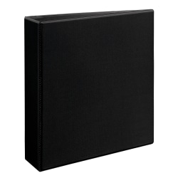 """Avery® Heavy-Duty View 3-Ring Binder With Locking One-Touch EZD™ Rings, 2"""" D-Rings, 39% Recycled, Black"""