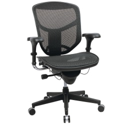 WorkPro® Quantum 9000 Series Ergonomic Mesh Mid-Back Desk Chair, Black