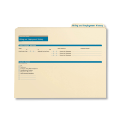 """ComplyRight Hiring/Employment History Folders, 12"""" x 9 1/2"""", Manila, Pack Of 25"""