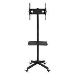 """Mount-It Adjustable Mobile TV Cart For 23"""" - 55"""" Displays, Black"""
