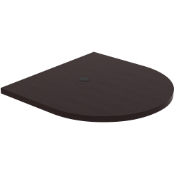 """Lorell® Prominence Conference Oval Table Top, 48""""W x 48""""L, Espresso"""
