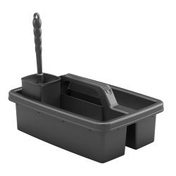 """Suncast Commercial 3-Piece Toilet Brush Carry Caddy Kit, 7""""H x 11-3/8""""W x 16-5/8""""D, Black"""