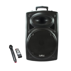 BeFree Sound Bluetooth®-Powered Portable PA Party Speaker, Black